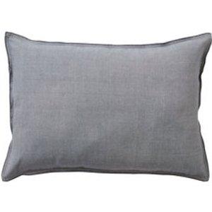 Blooma Rural Twill Grey Cushion (l)50cm X (w)50cm