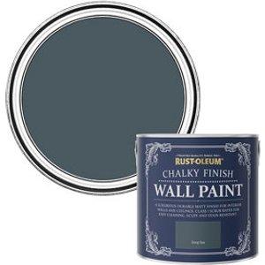 Rust-oleum Chalky Finish Wall Deep Sea Flat Matt Emulsion Paint  2.5l