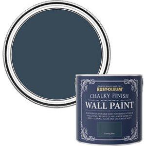 Rust-oleum Chalky Finish Wall Evening Blue Flat Matt Emulsion Paint  2.5l