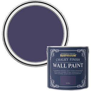 Rust-oleum Chalky Finish Wall Ink Blue Flat Matt Emulsion Paint  2.5l