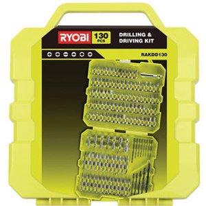 Ryobi 130 Piece Straight Mixed Drill Bit Set
