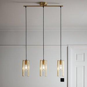 Goodhome Saiphi Gold Effect 3 Lamp Pendant Ceiling Light  (dia)690mm