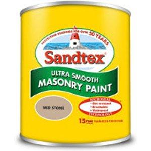 Sandtex Mid Stone Masonry Paint  0.15l Tester Pot