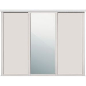 Spacepro Shaker Mirrored Cashmere Sliding Wardrobe Door (w)610mm  Pack Of 3