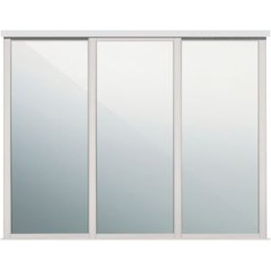 Spacepro Shaker Mirrored Cashmere Sliding Wardrobe Door (w)762mm  Pack Of 3