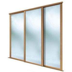 Spacepro Shaker Mirrored Oak Effect Sliding Wardrobe Door (h)2223 Mm (w)762mm  Pack Of 3