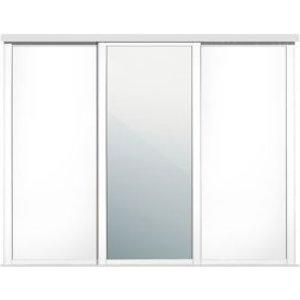 Spacepro Shaker Mirrored White 3 Door Sliding Wardrobe Door Kit (h)2260mm (w)1680mm