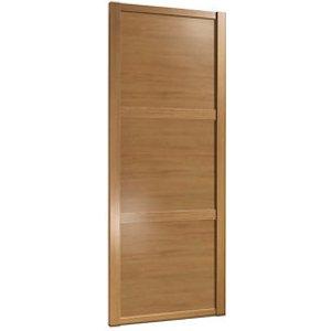 Spacepro Shaker Natural Oak Effect Sliding Wardrobe Door (h)2220mm (w)610mm
