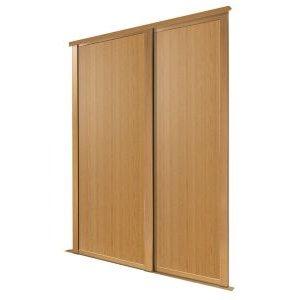 Spacepro Shaker Natural Oak Effect Sliding Wardrobe Door (h)2223 Mm (w)610mm  Pack Of 2