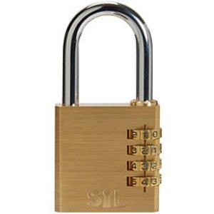 Smith & Locke Brass & Steel Open Shackle Combination Padlock (w)50mm