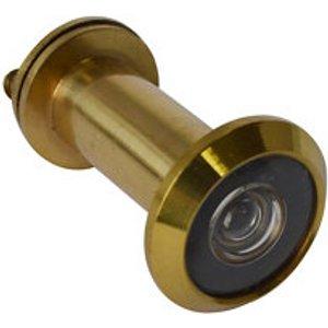 Smith & Locke Galvanised Brass 180° Door Viewer  (dia)25.9mm