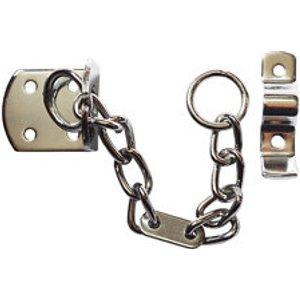 Smith & Locke Tt4002 Chrome Effect Galvanised Steel Door Chain  (l)208mm