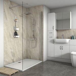 Splashwall Gloss Byzantine 3 Sided Shower Panel Kit (w)1200mm (t)11mm