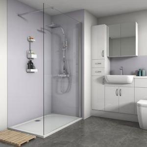 Splashwall Matt Lavender Shower Panel (w)600mm (t)4mm