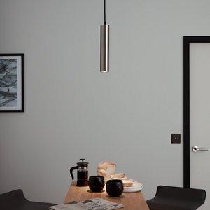 Goodhome Suartone Chrome Effect Pendant Ceiling Light  (dia)60mm