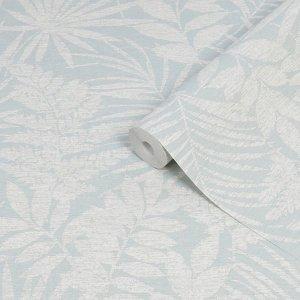 Superfresco Easy Fern Duck Egg Leaves Smooth Wallpaper