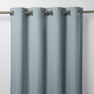 Goodhome Taowa Blue Grey Plain Unlined Eyelet Curtain (w)117cm (l)137cm  Single