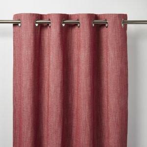 Goodhome Tiga Red Plain Unlined Eyelet Curtain (w)117cm (l)137cm  Single