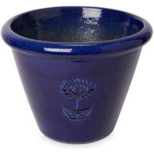 Blooma Tiwlip Dark Blue Ceramic Round Plant Pot (dia)36cm