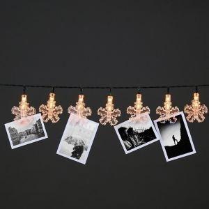Transparent Snowflake Clip Christmas String Light Cap  Pack Of 25