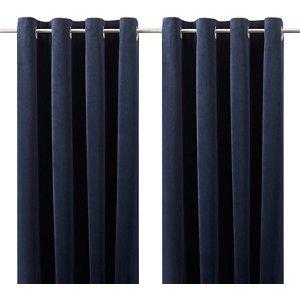 Goodhome Valgreta Deep Navy Plain Lined Eyelet Curtains (w)167cm (l)228cm  Pair