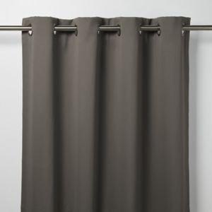 Goodhome Vestris Dark Grey Plain Blackout Eyelet Curtain (w)167cm (l)228cm  Single