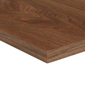 Walnut Effect Fully Edged Chipboard Furniture Board  (l)0.8m (w)300mm (t)18mm