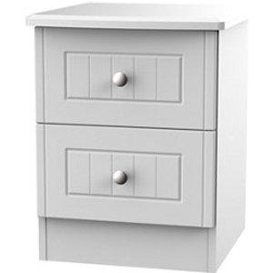 Welcome Furniture Warwick Matt Grey 2 Drawer Compact Bedside Chest (h)505mm (w)395mm (d)415mm