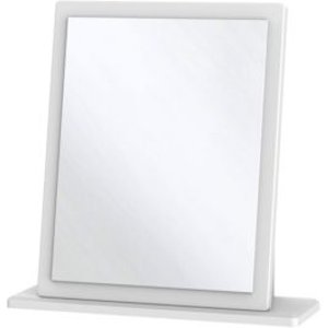 Welcome Furniture Warwick Matt White Rectangular Framed Mirror (h)505mm (w)480mm