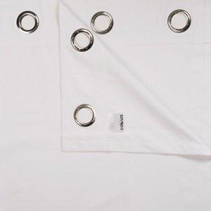 Colours Zen White Plain Unlined Eyelet Curtains (w)228cm (l)228cm  Pair