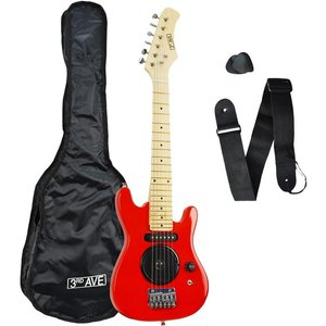 3rd Avenue Stx05 Junior Electric Guitar - Red, Red, Red
