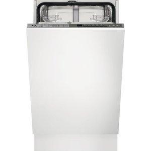 Aeg Fss63400p Slimline Integrated Dishwasher, Red, Red