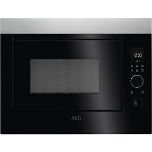Aeg Mbe2658d-m Built-in Microwave With Grill - Stainless Steel & Black, Stainless Steel Mbe2658dm, Stainless Steel