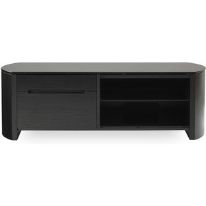 Alphason Finewoods 1100 Tv Stand - Black Oak, Black 10158018, Black