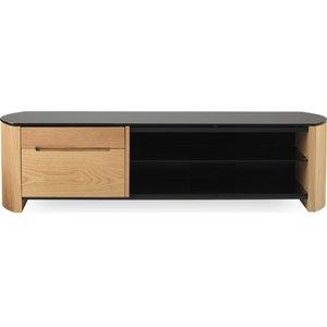 Alphason Finewoods Cabinet 1350 Tv Stand - Light Oak, Black 10158016, Black