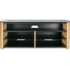 Alphason Finewoods Soundbar 1350 Tv Stand - Light Oak, Black, Black