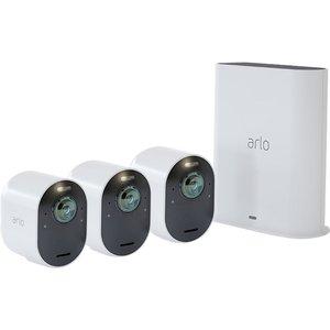 Arlo Ultra 2 4k Ultra Hd Wifi Security Camera System - 3 Cameras, White, White, White