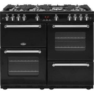 Belling Kensington 100g Gas Range Cooker - Black & Chrome, Black, Black