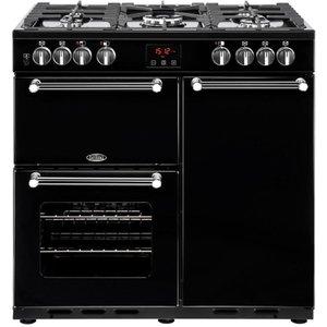 Belling Kensington 90dft 90 Cm Dual Fuel Range Cooker - Black, Black, Black
