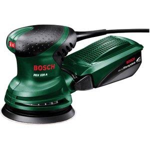 Bosch Pex 220 A Random Orbit Sander - Black & Green, Black 10207844, Black