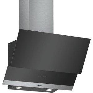Bosch Serie 4 Dwk065g60b Chimney Cooker Hood - Black, Black, Black