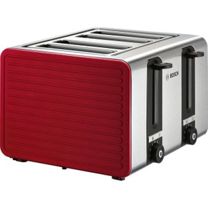 Bosch Tat7s44gb 4-slice Toaster - Red & Silver, Red, Red