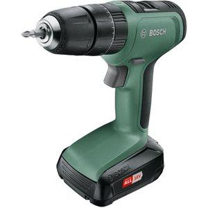 Bosch Universalimpact 18 Hammer Drill / Driver - Black & Green, Black 10207738, Black