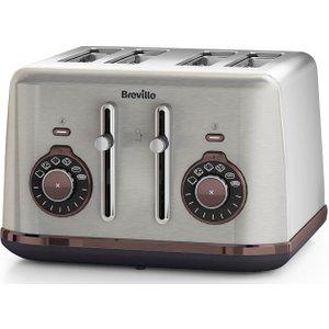 Breville Selecta Vtt953 4-slice Toaster - Stainless Steel, Stainless Steel, Stainless Steel