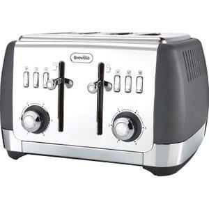 Breville Strata Vtt764 4-slice Toaster - Grey, Grey, Grey