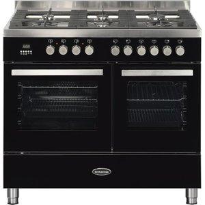 Britannia Sonetto 100df Tc Dual Fuel Range Cooker - Black & Chrome, Black, Black