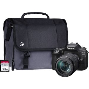 Canon Eos 90d Dslr Camera With Ef-s 18-135 Mm F/3.5-5.6 Is Stm Lens, 64 Gb Sd Card & Bag B