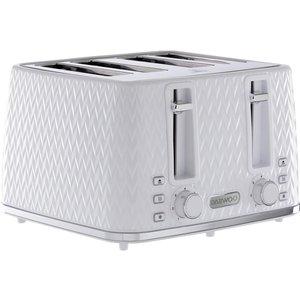 Daewoo Argyle Collection Sda1864 4-slice Toaster - White, White, White