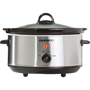 Daewoo Sda1364 Slow Cooker - Stainless Steel, Stainless Steel, Stainless Steel