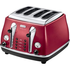 Delonghi Micalite Ctom4003r 4-slice Toaster - Red, Red, Red